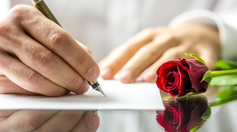 writing romantic letters