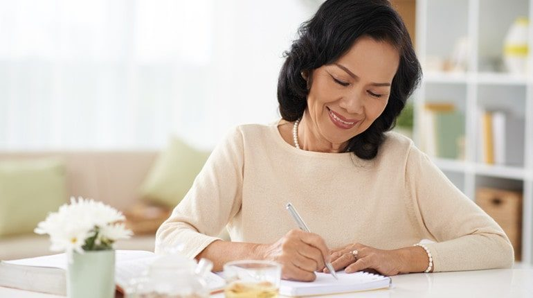 keeping diary supports mental health