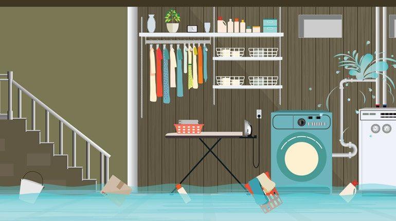 deal with basement flood